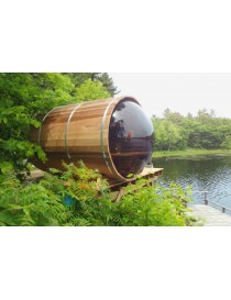 Barrel Sauna Red Cedar L 310 cm ø188 cm