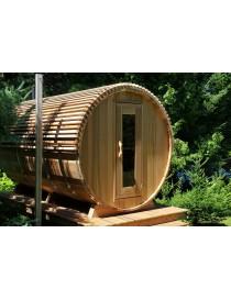 Barrel Sauna Red Cedar L 365 cm ø213 cm